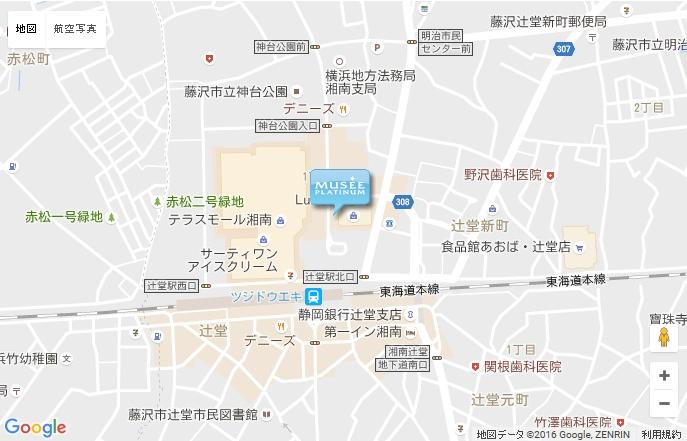 ミュゼ Luz湘南辻堂店の地図