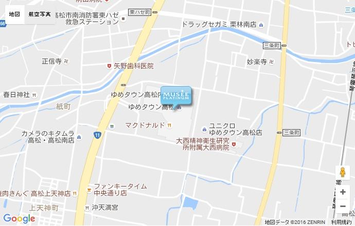 ミュゼ 高松ゆめタウン店の地図