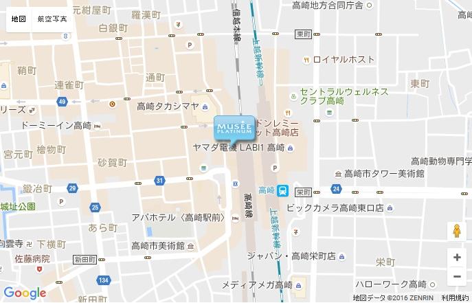 ミュゼ 高崎モントレー店の地図