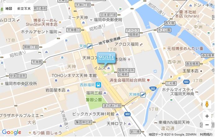 ミュゼ 天神イムズ店の地図