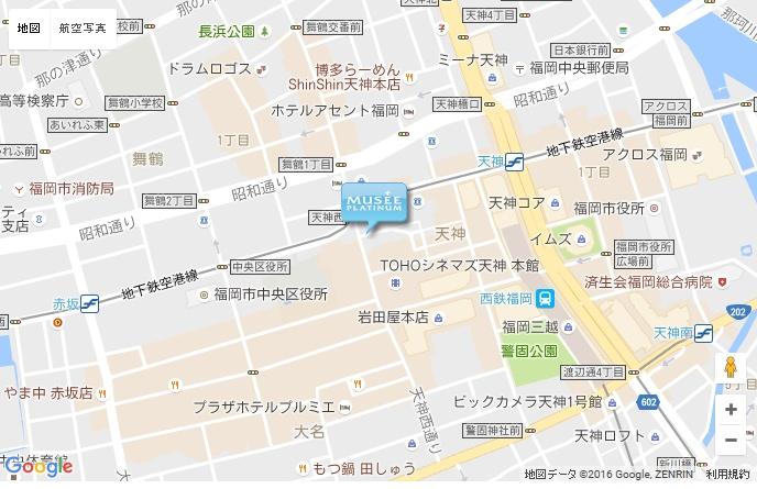 ミュゼ グラン天神プライム店の地図