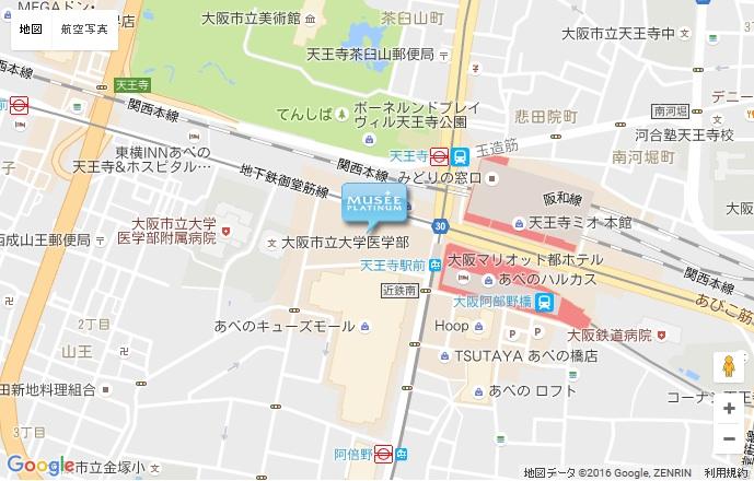 ミュゼ グラン天王寺アポロビル店の地図
