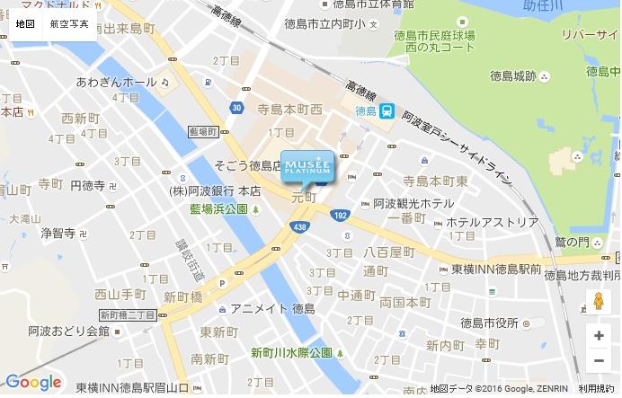 ミュゼ 徳島アミコ店の地図
