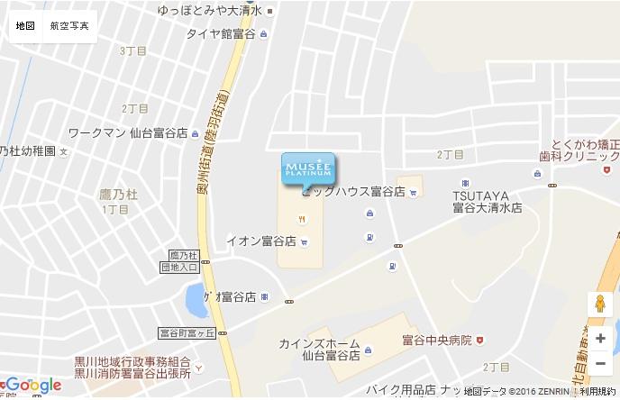 ミュゼ 仙台長町インター店の地図