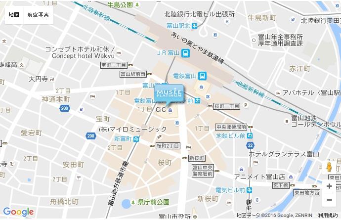 ミュゼ 富山CiC店の地図