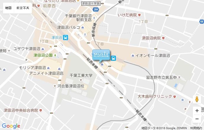 ミュゼ ミーナ津田沼店の地図