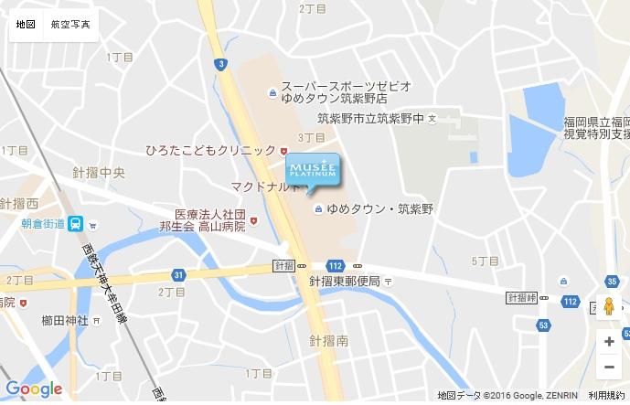 ミュゼ 筑紫野ゆめタウン店の地図