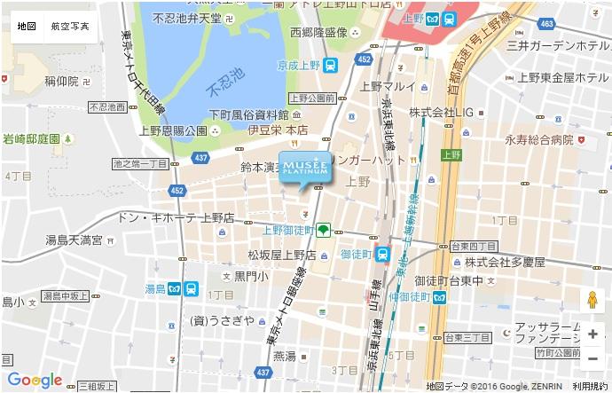 ミュゼ 上野広小路店の地図