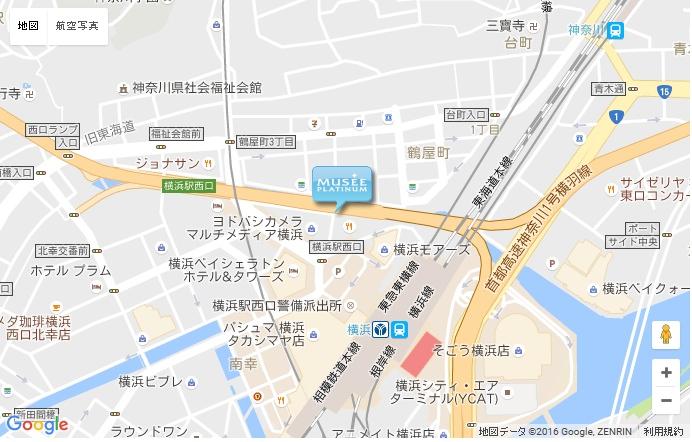 ミュゼ グラン横浜西口店の地図