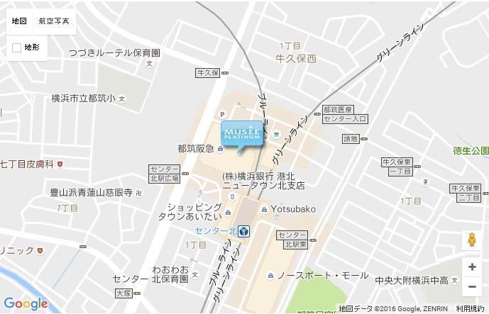 ミュゼ 横浜モザイクモール港北店の地図