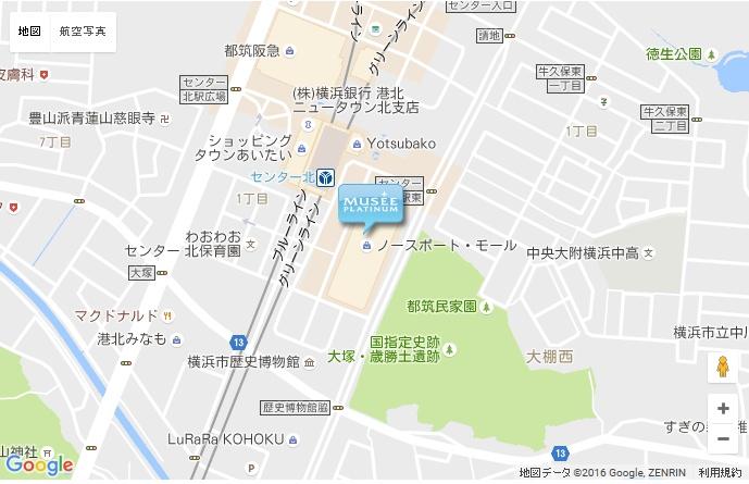ミュゼ 横浜ノースポートモール店の地図
