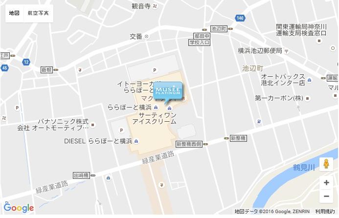 ミュゼ 横浜ららぽーと店の地図