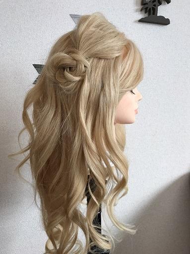 髪の毛で作るお花