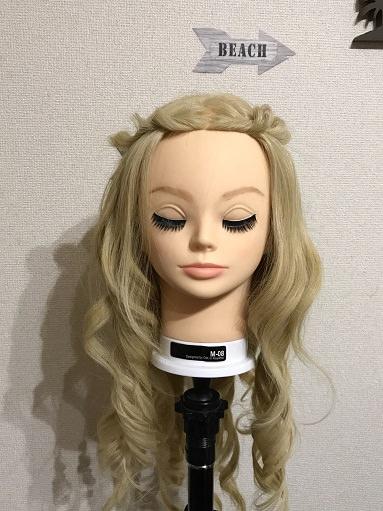ねじりで作るティアラヘア前髪
