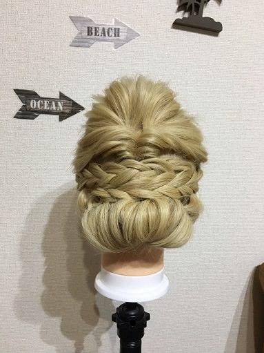ギブソンタックで「結婚式のベルの髪型」を作る