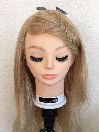 前髪フィッシュボーン
