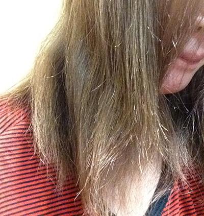 ホホバオイルを使う前の髪の毛の状態