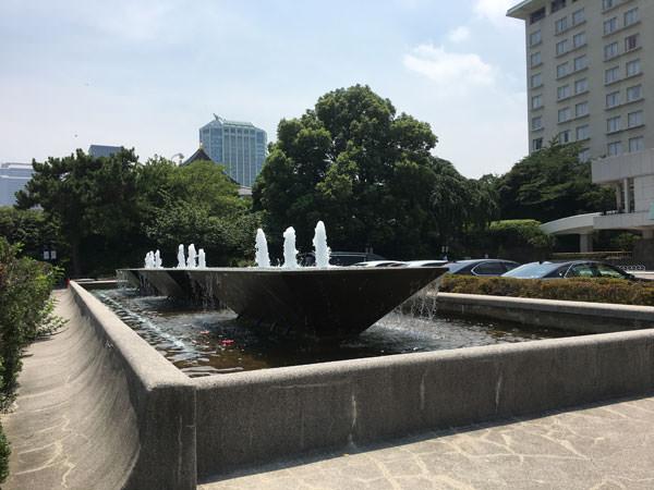 東京プリンスホテルの噴水