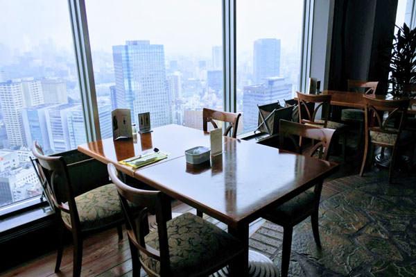 東京ドームホテル「アーティスト カフェ」窓からの風景