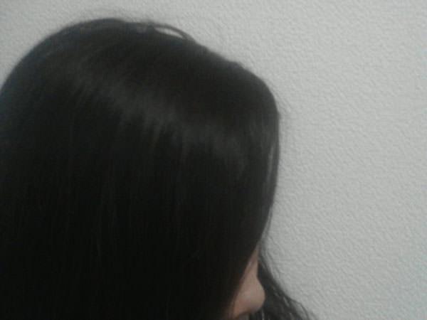 こめ油を髪につけてみた