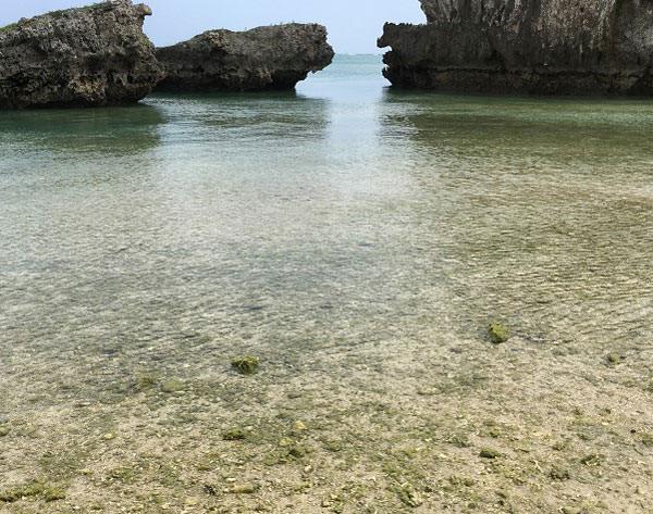 新原ビーチで海水浴