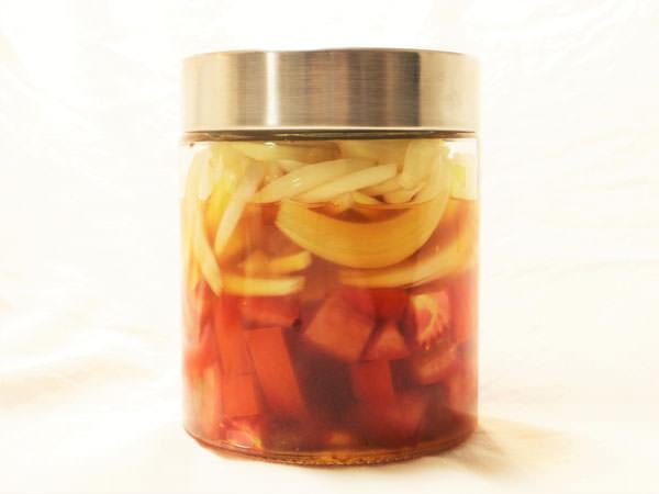 刻みタイプの酢トマトの作り方