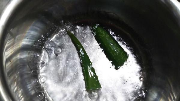 アロエベラを煮沸消毒