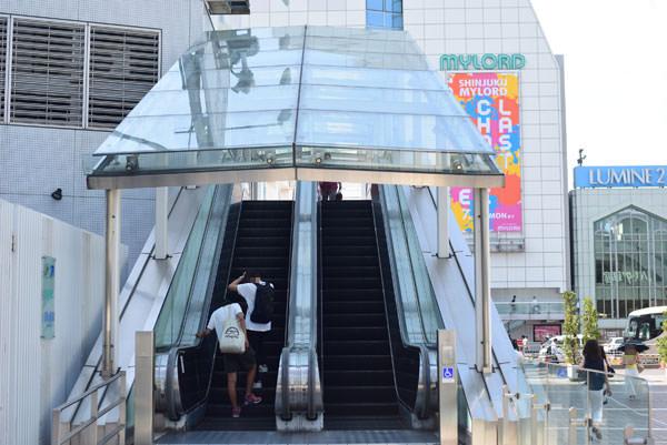 新宿ミロードへの行き方(新南口改札から)