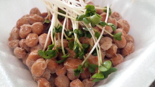 ブロッコリースプラウトを納豆の薬味にしてみる