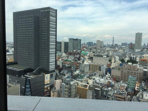 新宿プリンスホテル 和風ダイニング&バー FUGAの窓からの風景