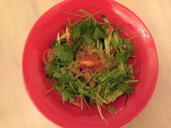 中華くらげのサラダ