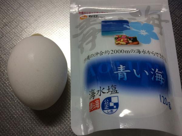 塩+卵白でフェイスパック