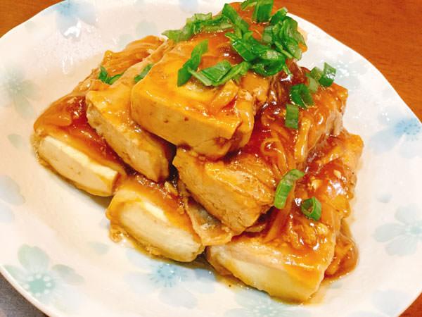 まるで角煮!?豚のうまみがじゅわっ!生姜香る秘密の豚豆腐