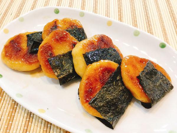 白玉粉と豆腐で作る磯辺焼き♪もちもち食感で満足度大!