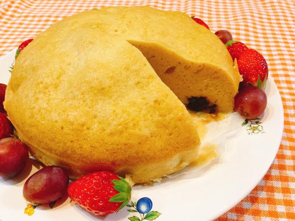 アーモンドプードル入りのあんこ蒸しケーキ