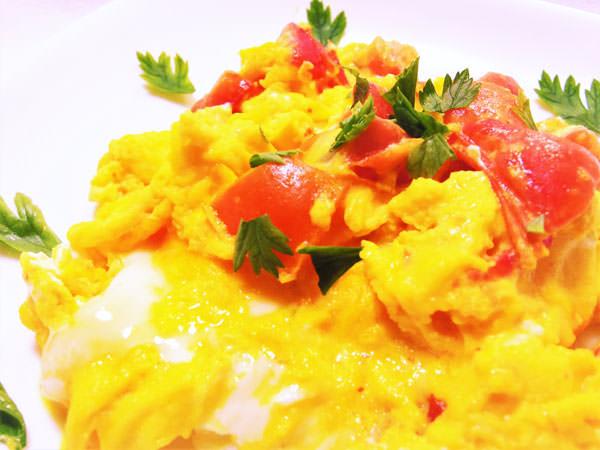 酢トマトの卵炒めのレシピ