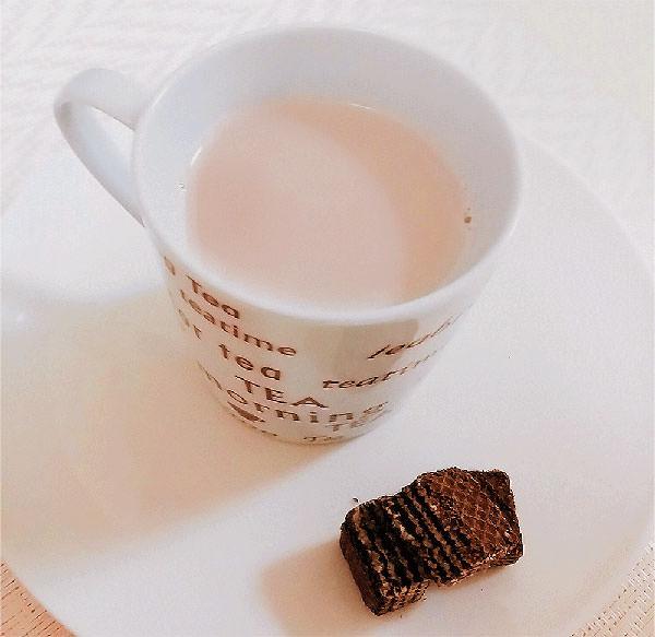 黒豆茶の出がらしラテ