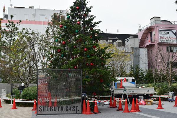 渋谷キャスト広場 クリスマスツリー