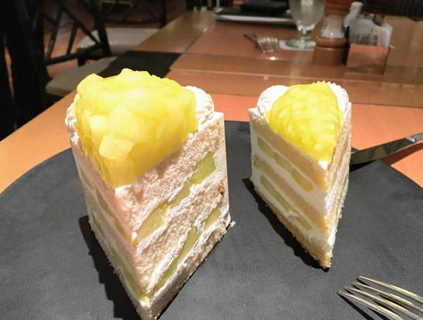 スーパーメロンショートケーキとエクストラスーパーメロンショートケーキ