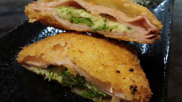 ブロッコリースーパースプラウトでハムチーズ揚げ