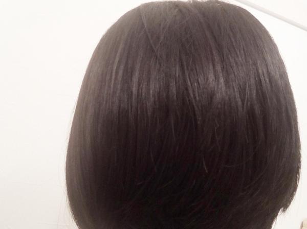 極潤ヒアルロン液入りシャンプーで洗髪後