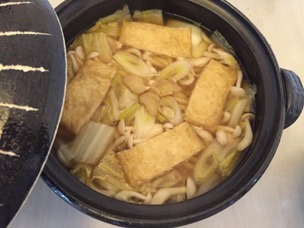 乾燥生姜入り鍋焼きうどん