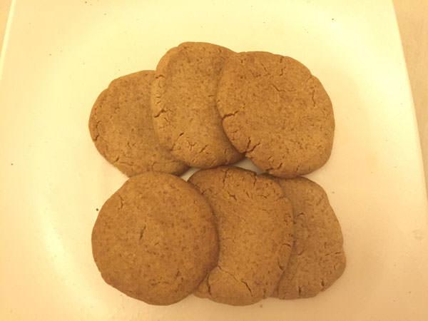 もち麦粉のクッキー