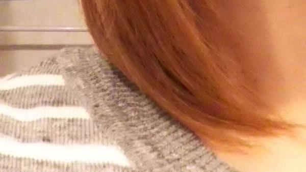 リピジュア化粧水をつけてから10分経過後の髪の毛