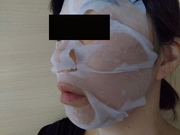 ワンミニットモーニングマスク使用中