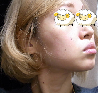 タナカミネラルソープで洗顔後の頬