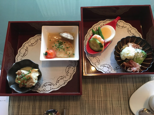 京王プラザホテルアートラウンジ デュエットの料理
