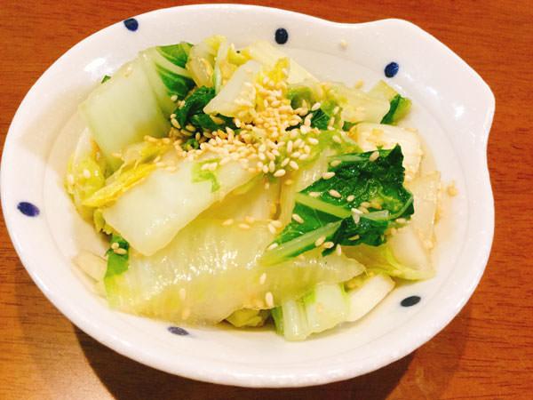 レンジ4分【白菜のナムル風】チンして水気切って混ぜるだけ