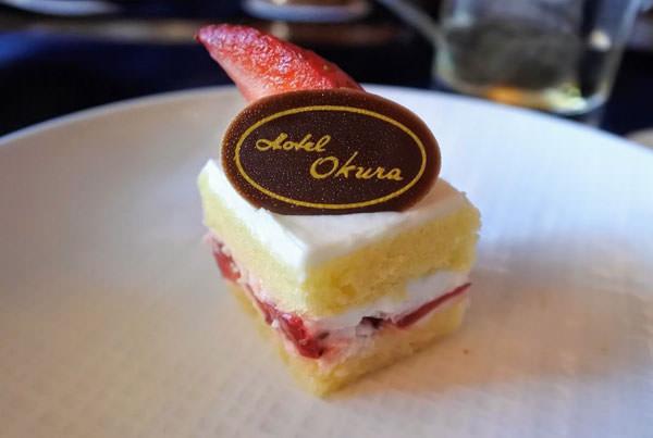 ホテルオークラ福岡「ラウンジ&バー ハカタガワ」アフタヌーンティー イチゴのショートケーキ