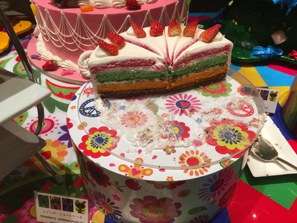 ヒルトン東京 レインボーショートケーキ
